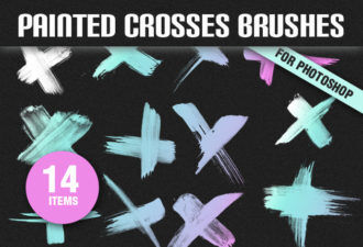 Painted-Crosses-PS-Brushes Addons brush|cross|grunge|painted