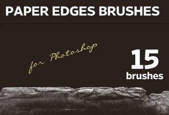 Paper-Edges-Photoshop-Brushes Addons brush|edge|paper|torn