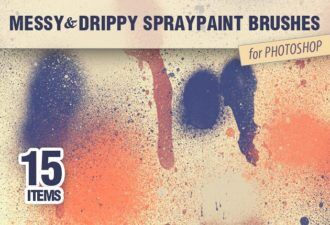 Messy-Spraypaint-PS-Brushes Addons brush|messy|paint|spray