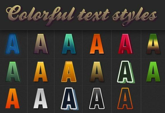 Colorful-Text-Styles-for-Photoshop Addons color|graphic|style|text