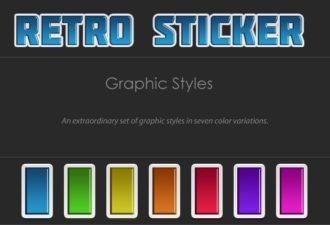 Retro-Stickers-Text-Styles Addons retro|sticker|style|text