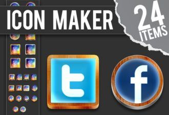 Photoshop-Icon-Maker Addons icon|maker|metal|wood