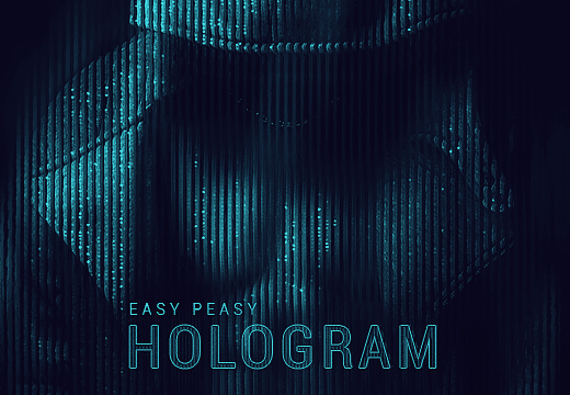 The-Easy-Peasy-HoloGram-FX Addons 80off|atn|Editor's-Picks-–-Addons|hologram-effects|photoshop-actions