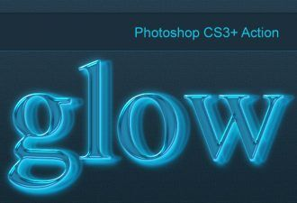 Photoshop-neon-glow-action Addons action|glow|neon|style