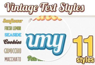 Vintage-Text-Styles Addons addon|style|text|vintage