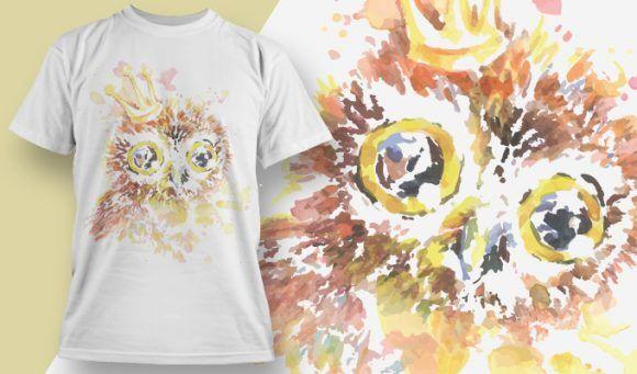 T-shirt Design 1809 – Owl T-shirt Designs and Templates vector