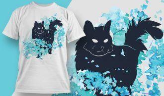 Free Cat T-shirt Design – 1854 Freebies vector