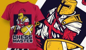 T-shirt Design 1874 – Chess Master T-shirt Designs and Templates vector