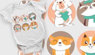 T-shirt design 2106 T-shirt Designs and Templates vector