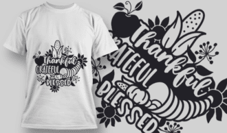 2122 Thankful Grateful Blessed 2 SVG Quote T-shirt Designs and Templates vector