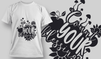 2130 Count Your Blessings 2 SVG Quote T-shirt Designs and Templates vector
