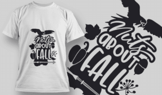 2140 Nuts About Fall 2 SVG Quote T-shirt Designs and Templates vector