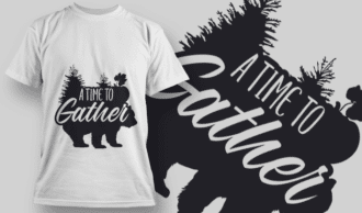 2156 A Time to Gather SVG Quote T-shirt Designs and Templates tree