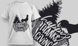2161 Happy Thanksgiving 5 SVG Quote T-shirt Designs and Templates tree