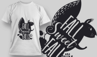 2172 Fall Sweet Fall 1 SVG Quote T-shirt Designs and Templates leaf