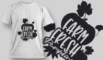 2173 Farm Fresh Pumpkins SVG Quote T-shirt Designs and Templates leaf