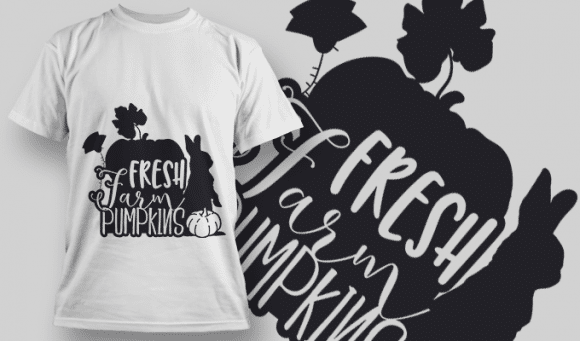 2174 Fresh Farm Pumpkins SVG Quote T-shirt Designs and Templates leaf