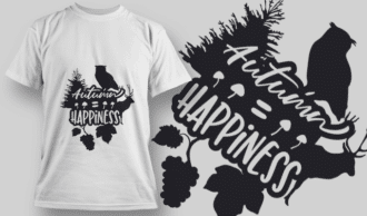 2176 Autumn Happiness 1 SVG Quote T-shirt Designs and Templates tree