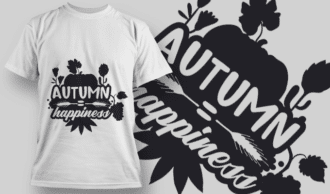 2177 Autumn Happiness 2 SVG Quote T-shirt Designs and Templates leaf