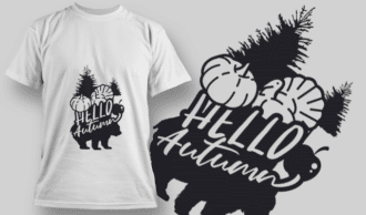 2185 Hello Autumn 1 SVG Quote T-shirt Designs and Templates tree