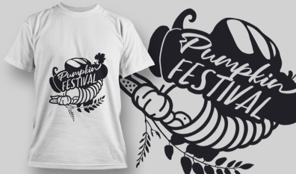 2186 Pumpkin Festival SVG Quote T-shirt Designs and Templates vector