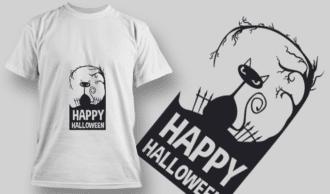 2223 Happy Halloween T-Shirt Design T-shirt Designs and Templates vector