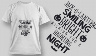 2232 Jack-O-Lanterns Smiling T-Shirt Design T-shirt Designs and Templates vector