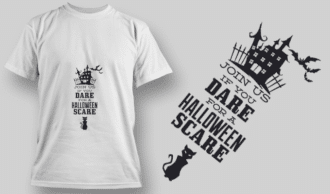 2233 Join Us If You Dare T-Shirt Design T-shirt Designs and Templates vector