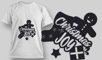2251 Christmas Joy T-Shirt Design T-shirt Designs and Templates vector
