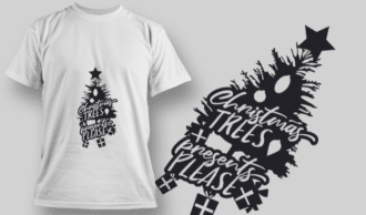 2252 Christmas Trees Presents Please T-Shirt Design T-shirt Designs and Templates tree