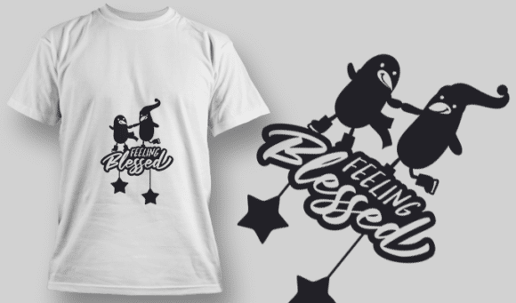 2254 Feeling Blessed T-Shirt Design T-shirt Designs and Templates star