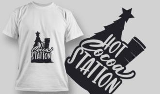 2261 Hot Cocoa Season T-Shirt Design T-shirt Designs and Templates tree
