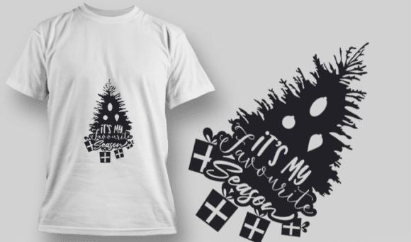 2263 It'S My Favourite Season T-Shirt Design T-shirt Designs and Templates tree