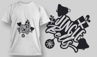 2264 Jingle Bells T-Shirt Design T-shirt Designs and Templates vector