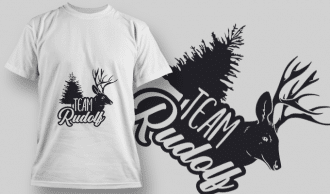 2289 Team Rudolf T-Shirt Design T-shirt Designs and Templates tree