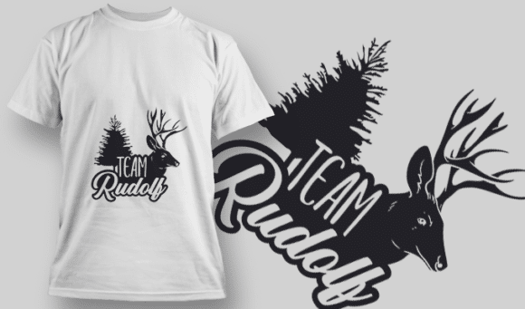2289 Team Rudolf T-Shirt Design T-shirt Designs and Templates tree