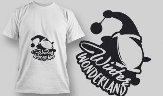 2293 Winter Wonderland 2 T-Shirt Design T-shirt Designs and Templates vector