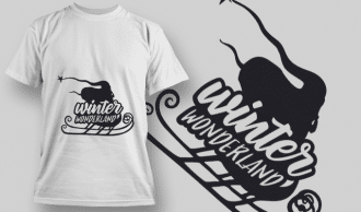 2294 Winter Wonderland T-Shirt Design T-shirt Designs and Templates vector