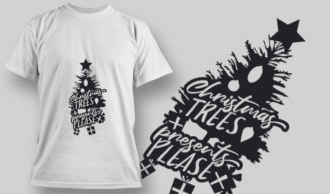 2300 Christmas Trees Presents Please T-Shirt Design T-shirt Designs and Templates tree