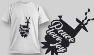 2336 Peace Love Joy T-Shirt Design T-shirt Designs and Templates vector