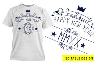 Happy new year 2020 MMXX design template