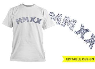 MMXX 2020 editable graphic design template