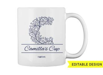 C letter monogram for mug printing T-shirt Designs and Templates printing