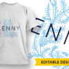 Ornate Letter K with Name Placeholder T-shirt Designs and Templates floral
