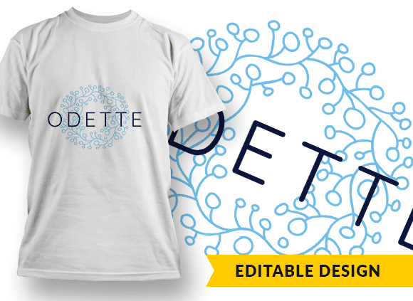 Ornate Letter O with Name Placeholder T-shirt Designs and Templates floral