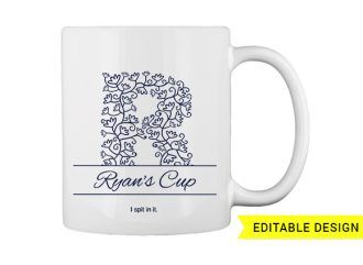R letter monogram for mug printing T-shirt Designs and Templates floral