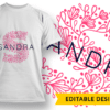 Ornate Letter R with Name Placeholder T-shirt Designs and Templates floral