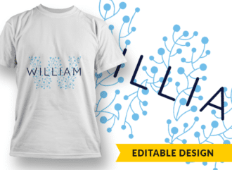 Ornate Letter W with Name Placeholder T-shirt Designs and Templates floral
