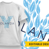 Ornate Letter X with Name Placeholder T-shirt Designs and Templates floral