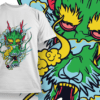 Demon Smoking T-shirt Designs and Templates leaf